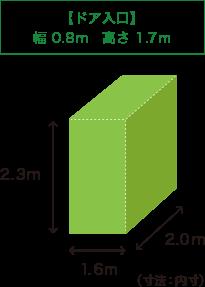 W1.5m*H2.4m*D2.4m