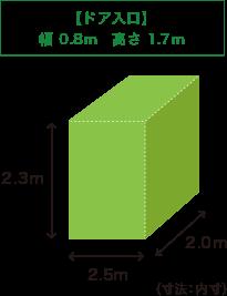 W2m*H2.4m*D2.4m